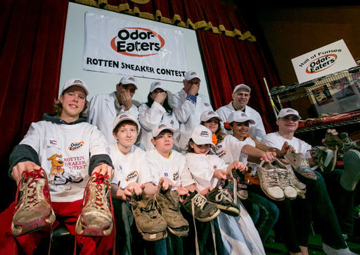 Judges and contestants gather at Ripley's Believe It or Not! Times Square for the 39th National Odor-Eaters® Rotten Sneaker Contest®.