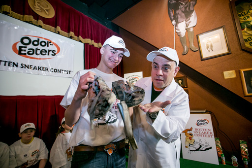 Alex Bernier, age 14, from Bristol, CT, was the runner-up in the 39th National Odor-Eaters® Rotten Sneaker Contest®