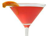 Man Hater Martini: 1 oz. KINKY® Liqueur 1 oz. vodka 3 oz. cranberry juice 1 lime wedge