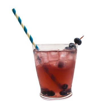 Mr. Right Now:  1 oz. KINKY® Blue 2 ½ oz. Risata® Pink Moscato 2 oz. vodka 2 oz. cranberry juice