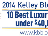 Top luxury cars that won't break the bank determined By Kelley Blue Book Expert Editors.