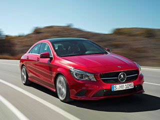 2014 Mercedes-Benz CLA-Class: The all-new CLA starts around $30,000, combining striking looks and responsive performance with highway fuel economy of 38 mpg.