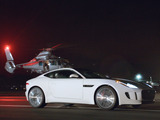 "An image from Jaguar's first Super Bowl commercial, ""Rendezvous,"" launching the brand's ""British Villains"" campaign for the new F-TYPE Coupe, to debut on February 2."