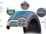 MICHELIN® Premier® A/S tire with EverGrip™ Cross Section Graphic