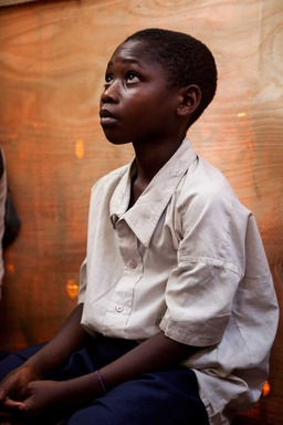 """Sometimes I am afraid people may come and attack us at night,"" Moise, 10. Photo Credit: Simon Rawles/World Vision"