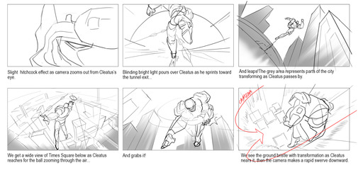 Showcasing the specific shots, camera angles and timing of the Super Bowl animation, SCAD students designed scene-by-scene layouts and submitted the storyboards to FOX Sports for approval.