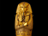 Golden Coffins –All three reproductions of the golden coffins depict the late king mummiform and are wrapped in a feather dress, holding insignia of power in crossed hands.