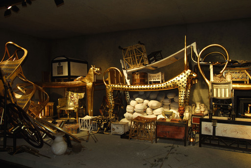 The Tomb of Tutankhamun – The four shrines and Tutankhamun's sarcophagus that were discovered by Howard Carter in the burial chamber have been reconstructed for the exhibition.