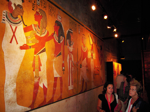Wall Paintings –The four walls of the burial chamber were decorated with beautiful wall paintings that have be reconstructed for the exhibition.