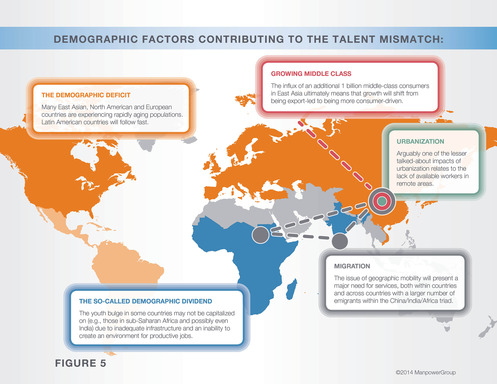 Demographic factors contributing to the talent mismatch