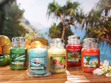 Yankee Candle introduces five new fragrances inspired by exotic fruits, deep blue ocean fragrances, and lush greenery and blooms