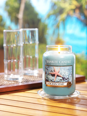 Yankee Candle's Ocean Star(TM), one of five new fragrances for 2014, evokes peaceful, sun-kissed waters laced with aloe, citrus and lotus blossom.