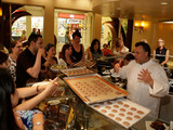Chef Francois Payard demonstrates to the crowd during Vegas Uncork'd