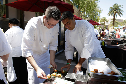 Chef Michael Mina prepared delectable bites at MGM Grand during Vegas Uncork'd