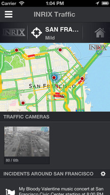 Stop sitting in traffic and avoid the jams today with the INRIX Traffic App