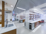 A lab space in the Belfer Research Building