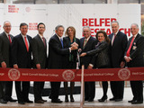 Ribbon cutting for the Belfer Research Building
