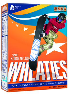 Sage Kotsenburg Wheaties Box