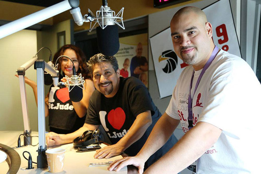 "Raul Molinar, Sylvia del Valle and Andres Maldonado, from Univision National radio program ""El Bueno, La Mala y El Feo"""