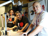 "Raúl Molinar, Sylvia del Valle and Andrés Maldonado, from Univision National radio program ""El Bueno, La Mala y El Feo"""