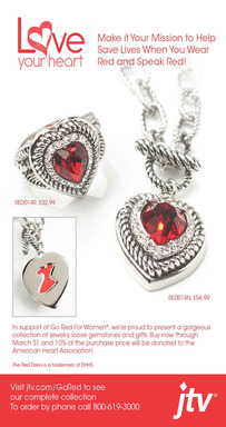 Shop  the JTV Love Your Heart Collection Supporting the American Heart Association