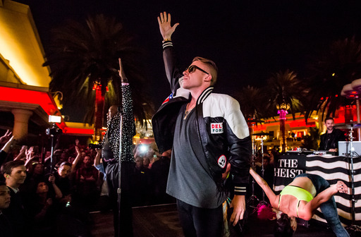 Macklemore and Ryan Lewis perform at Surrender Nightclub inside Wynn Las Vegas.