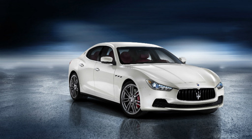 Ghibli, Maserati?s first-ever mid-size four-door luxury sports sedan, available in all-wheel-drive, starts at $66,900 and is powered by a Ferrari-built twin-turbo V6, capable of more than 400hp.