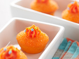 Pillsbury® Funfetti® Sparkling Orange Cake Poppers featuring Funfetti Orange All Star™ Cupcake & Cake Mix and Funfetti Orange All Star™ Vanilla Flavored Frosting