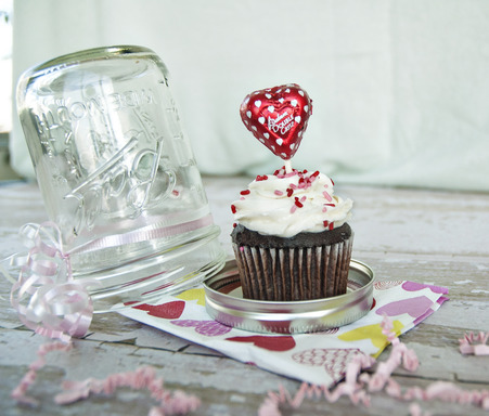 Gift Idea #2: Another use for a mason jar! Use a jar to house a sweet treat and love note