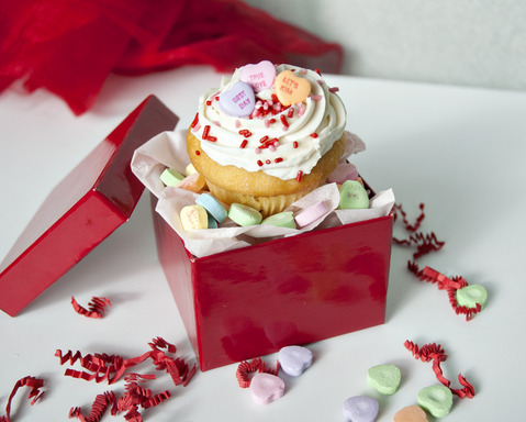 Gift Idea #4:  Surprise!  Use a gift box and ribbon to wrap up some sweet treats