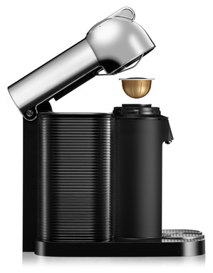 Nespresso's new VertuoLine™ system with Centrifusion™ technology provides an extremely high level of precision as the machine recognizes, through barcode technology, each expertly designed Grand Cru coffee and adjusts to brew each blend.
