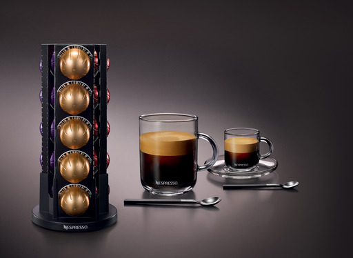 The Nespresso VertuoLine™ system custom brews the finest Grand Cru coffees sourced from the top 1-2% of the world's coffee beans.  This is the first and only digitized system that brews a smooth large-cup coffee topped with a silky and generous crema.