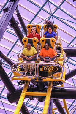 Accompanied by a customized soundtrack, El Loco's unique elements provide guests with a 72-second, adrenaline-pumping adventure around 1,300 feet of electric yellow track.