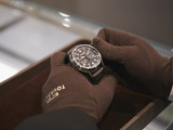 A Tourneau technician advances a Tourneau watch one hour for Daylight Saving Time on March 9th