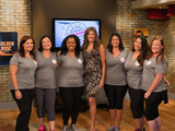 Host Julie Moran with Season 3 Mission Makeover women who are ready to fight to transform their lives