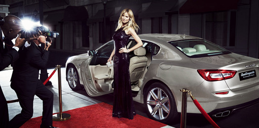 One of the world's most famous women, Heidi Klum, with the glamorous Quattroporte Zegna Limited Edition