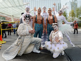 The cast of ZARKANA by Cirque du Soleil celebrate the reimagined production at ARIA Resort & Casino on March 3, 2014 Photo Credit: Denise Truscello/WireImage