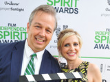 Independent Spirit Awards Bright Future Award winner Patrick Creadon and Sarah Michelle Gellar call ACTION! to create a brighter future on the Yellow Carpet during the Film Independent Spirit Awards