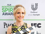 Sarah Michelle Gellar calls ACTION! to create a brighter future for children on the Yellow Carpet presented by Unilever Project Sunlight during the 2014 Film Independent Spirit Awards