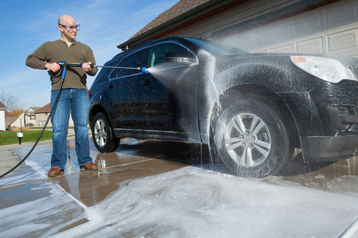 Great for adding massive amounts of soap, just like at a car wash!