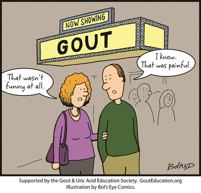 "Gout arthritis is an extremely painful disease, yet just one in five Americans thinks of gout as a ""serious"" condition."