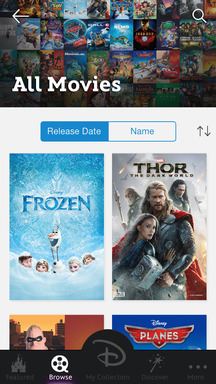 Discover new and classic Disney Movies on Disney Movies Anywhere iPad version © 2014 Disney © 2014 Marvel © 2014 Disney/Pixar