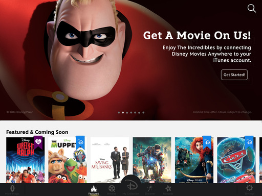 Get The Incredibles for Free! Connect Disney Movies Anywhere with iTunes © 2014 Disney © 2014 Marvel © 2014 Disney/Pixar