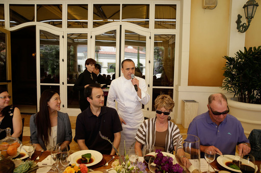 Jean-Georges Vongerichten with guests at Farm Fresh to Table at Bellagio