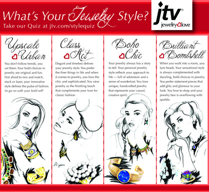 What's Your Jewelry Style - Quiz at jtv.com/stylequiz