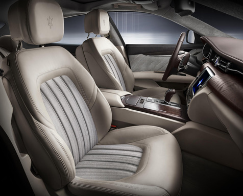 The Ermenegildo Zegna Limited Edition Maserati Quattroporte boasts a special finish in terms of color, materials and trim, embodying all the personality, quality and exclusivity linking these two iconic brands.