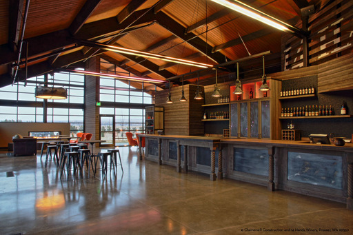 The new 14 Hands Winery tasting room is located at the gateway to the Horse Heaven Hills appellation where its vineyards are located.