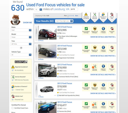 See used cars for sale that exactly match the vehicle history details you want.