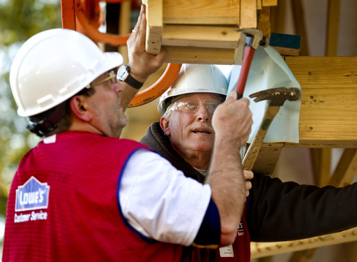 Lowe's has worked together with Habitat for Humanity since 2003 and recently committed $23.5 million through 2018 along with the volunteer support of Lowe's Heroes.