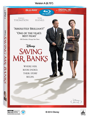 Saving Mr Banks Arrives on Blu-ray™, DVD, Digital HD, On-Demand and Disney Movies Anywhere on March 18th